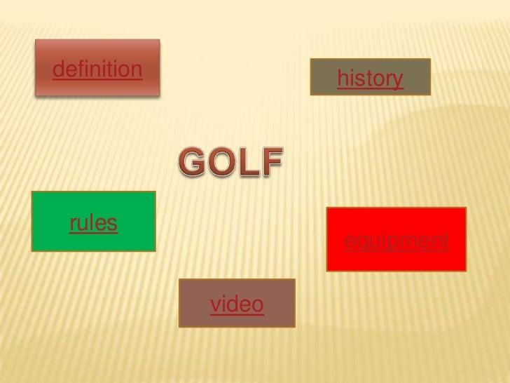 Presentacion golf