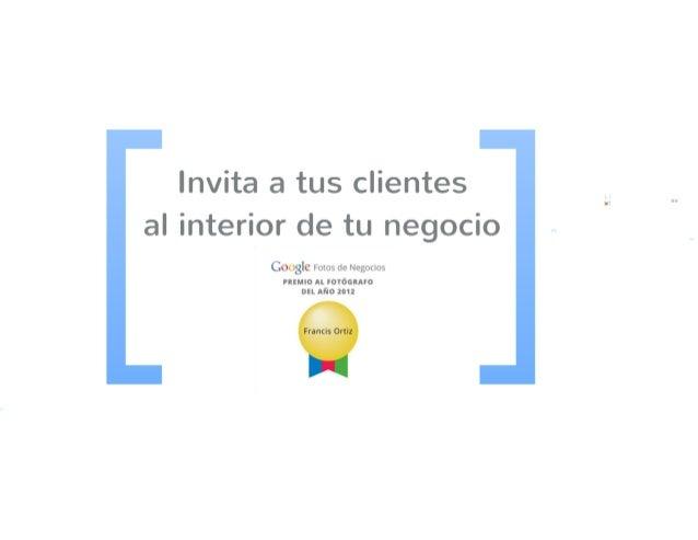 Presentacion google fotos de negocios