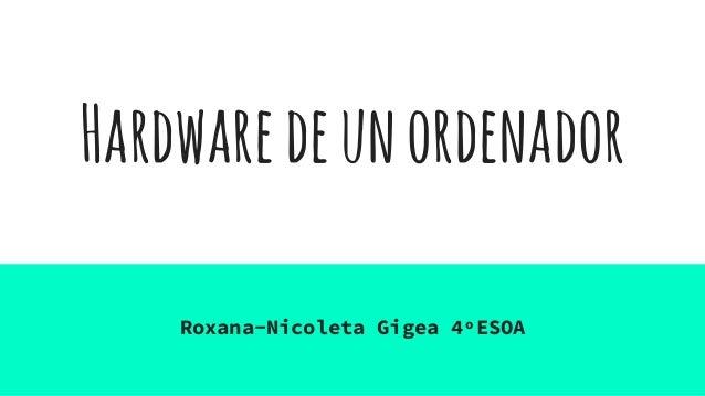 Hardwaredeunordenador Roxana-Nicoleta Gigea 4ºESOA