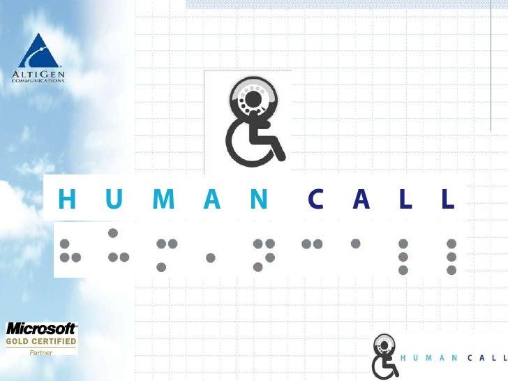 Presentacion HUMAN CALL