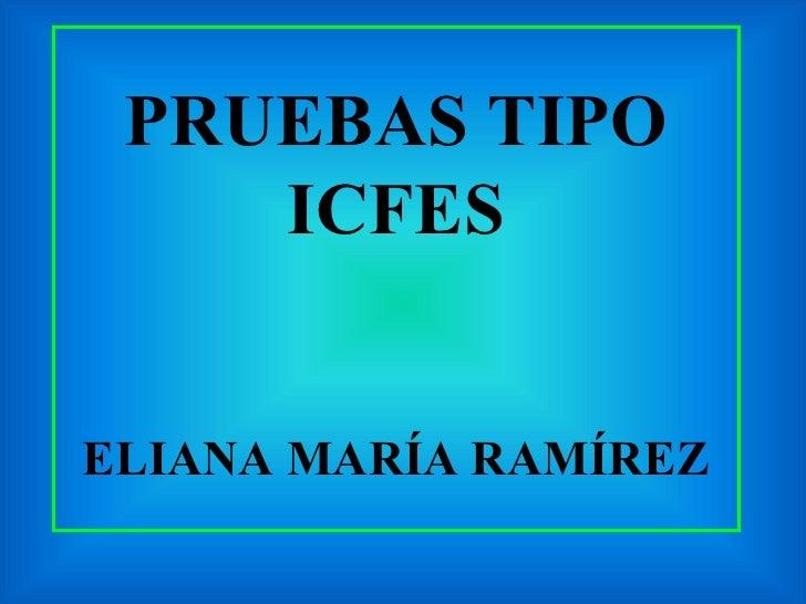 PRUEBAS TIPO ICFES ELIANA MARÍA RAMÍREZ