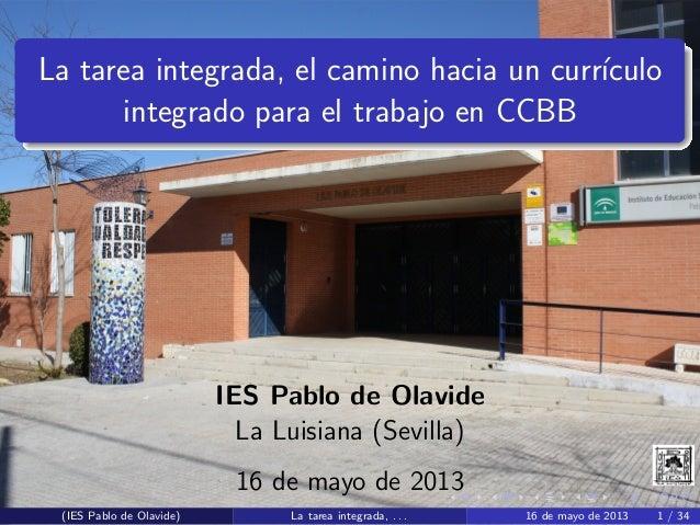 Tareas integradas IES Pablo de Olavide