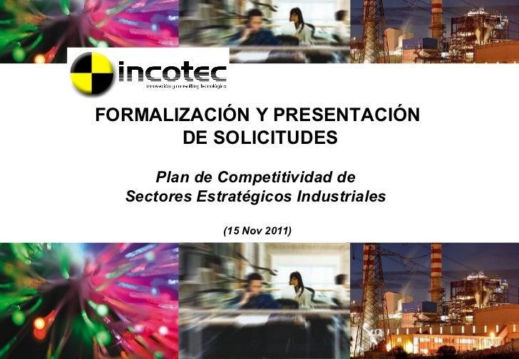 INCOTEC para jornada Sectores Estratégicos Industriales