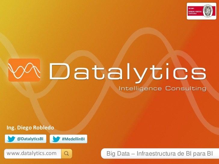 Ing. Diego Robledowww.datalytics.com   Big Data – Infraestructura de BI para BI
