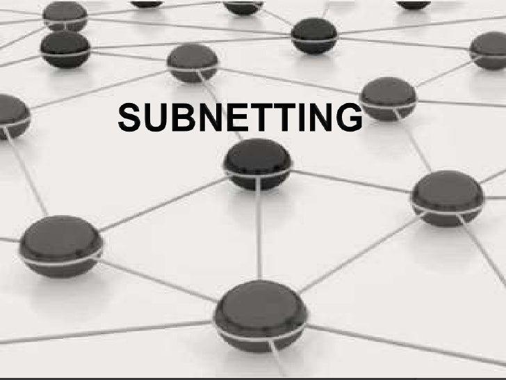 Para crear una subred a                         partir de una direccion IP                         de red padre, hay que  ...