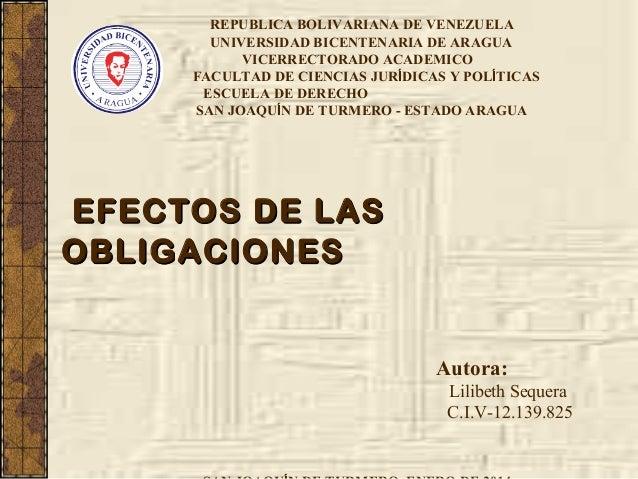 REPUBLICA BOLIVARIANA DE VENEZUELA UNIVERSIDAD BICENTENARIA DE ARAGUA VICERRECTORADO ACADEMICO FACULTAD DE CIENCIAS JURÍDI...