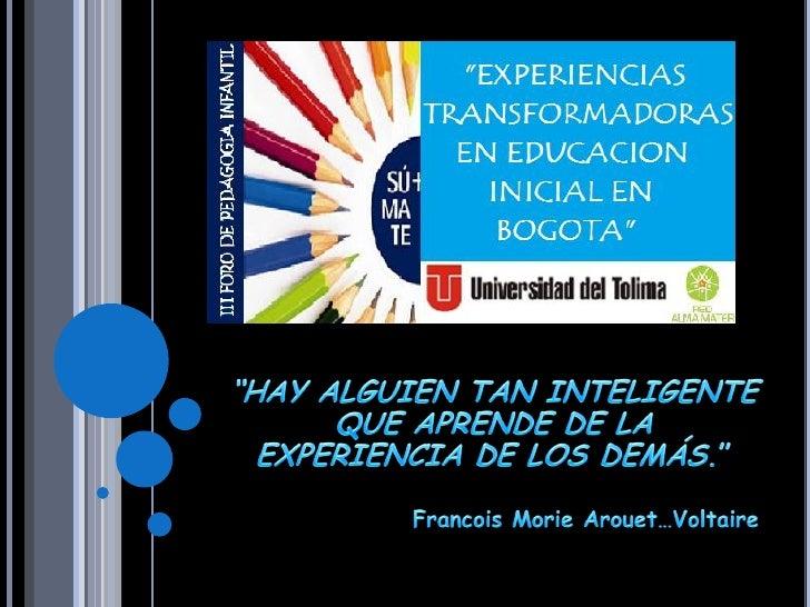    La Educación Infantil en Colombia necesita una     mayor cantidad de acciones que propendan por el     desarrollo inte...