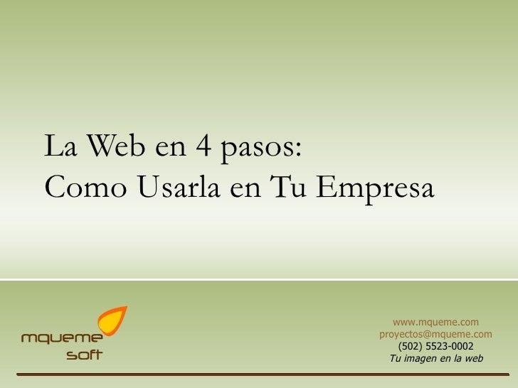 Presentacion Internet Beneficios Mquemesoft