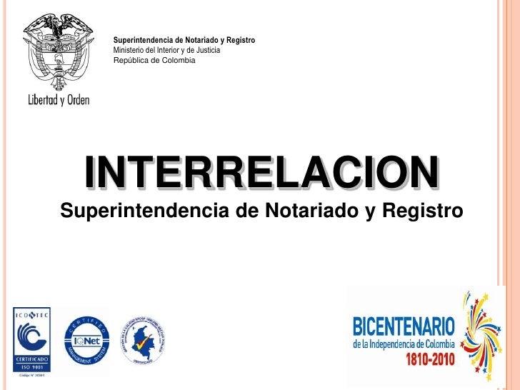 INTERRELACION<br />Superintendencia de Notariado y Registro<br />