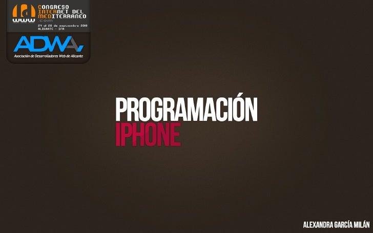 Presentación sobre desarrollo para iPhone