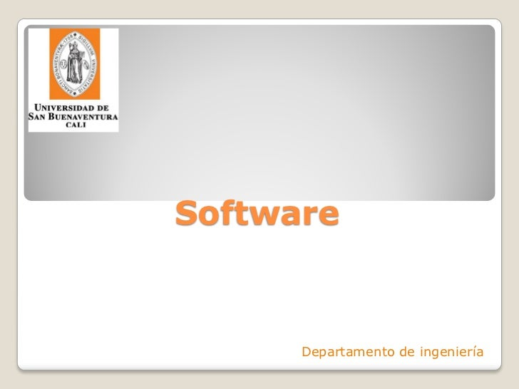 Software      Departamento de ingeniería