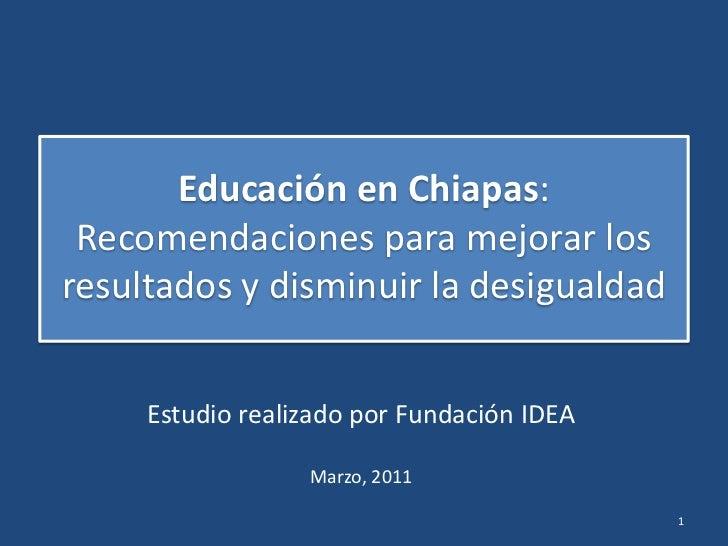 Encuesta de Calidad Educativa en Chiapas (ECECH)