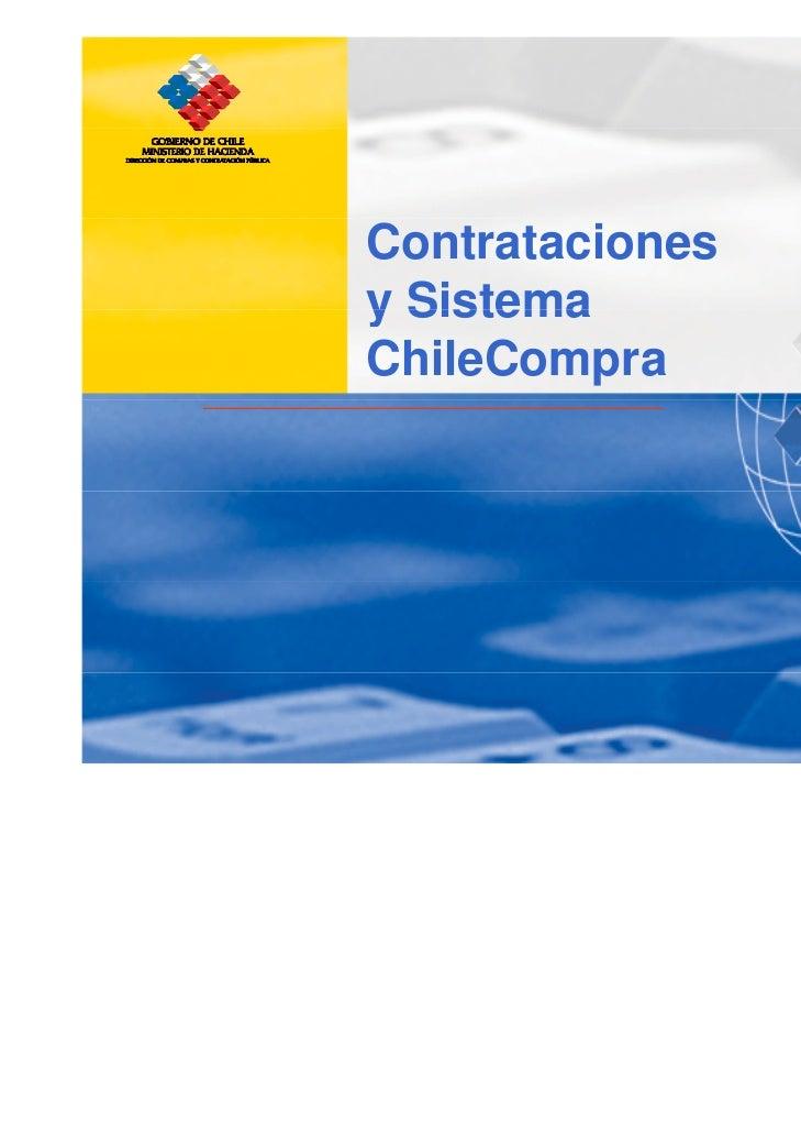 Contrataciones y Sistema Chilecompra
