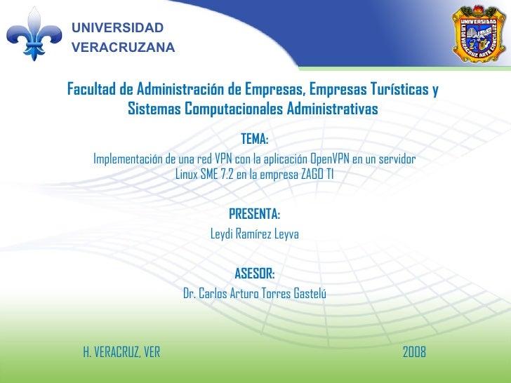 Facultad de Administración de Empresas, Empresas Turísticas y Sistemas Computacionales Administrativas TEMA: Implementació...