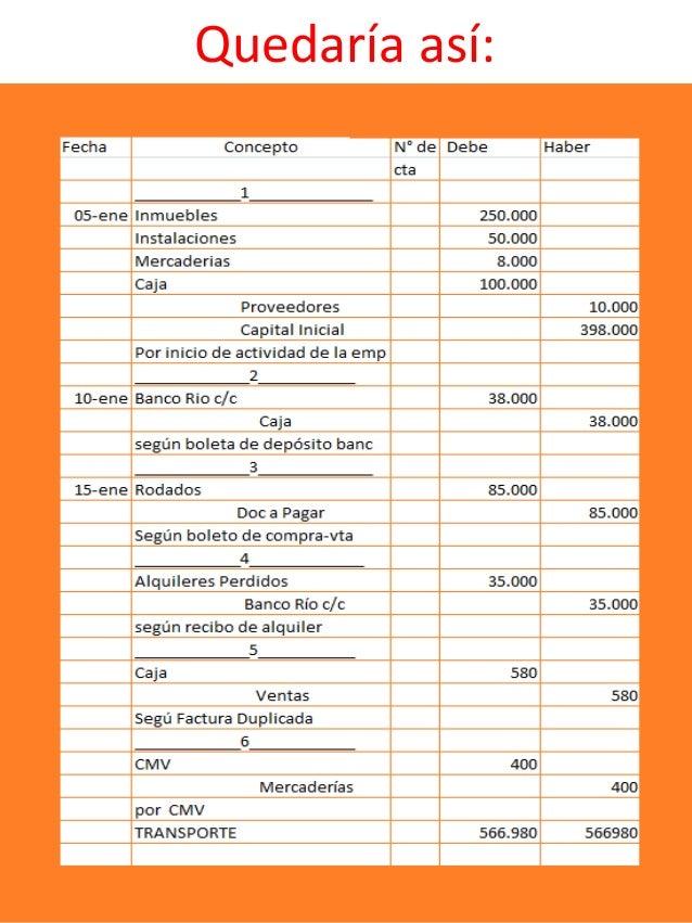 Formato Libro Diario Contabilidad Colombia Presentacion
