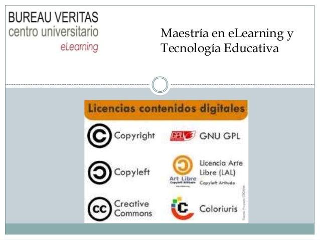 Maestría en eLearning y Tecnología Educativa