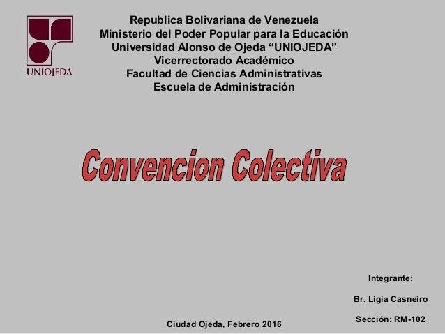 """Republica Bolivariana de Venezuela Ministerio del Poder Popular para la Educación Universidad Alonso de Ojeda """"UNIOJEDA"""" V..."""