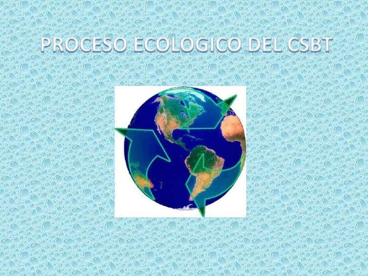 PROCESO ECOLOGICO DEL CSBT<br />