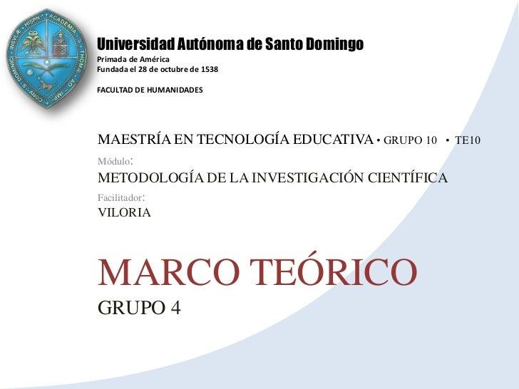 Presentacion Marco Teórico