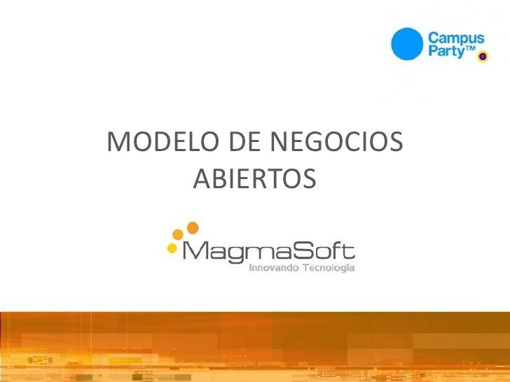 Modelo de negocios con software libre