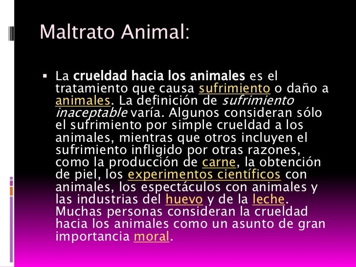 Presentacion maltrato animal for Definicion de espectaculo