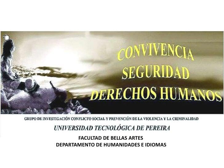FACULTAD DE BELLAS ARTESDEPARTAMENTO DE HUMANIDADES E IDIOMAS