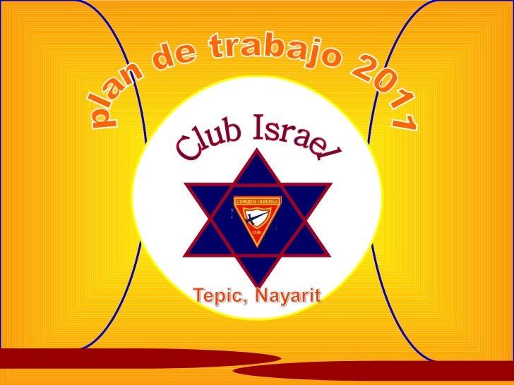 plan de trabajo 2011 Club Israel