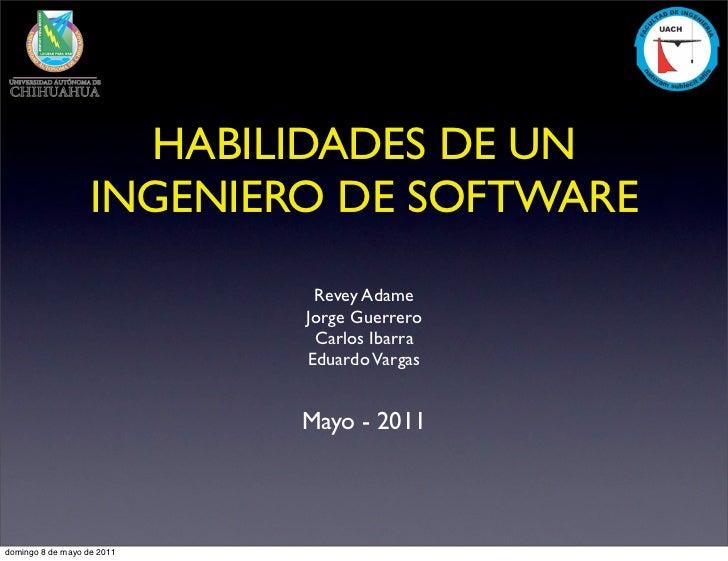 Habilidades de un ingeniero de software (tentativa a cambios)