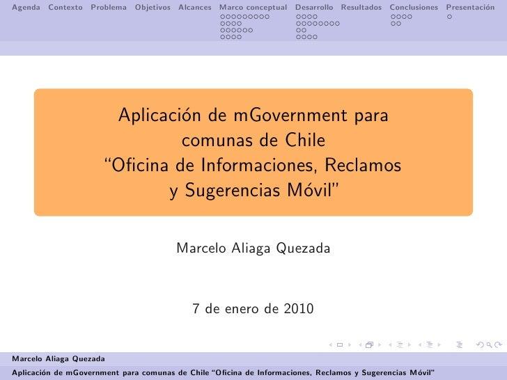 Presentacion mGov OIRS Movil Municipal
