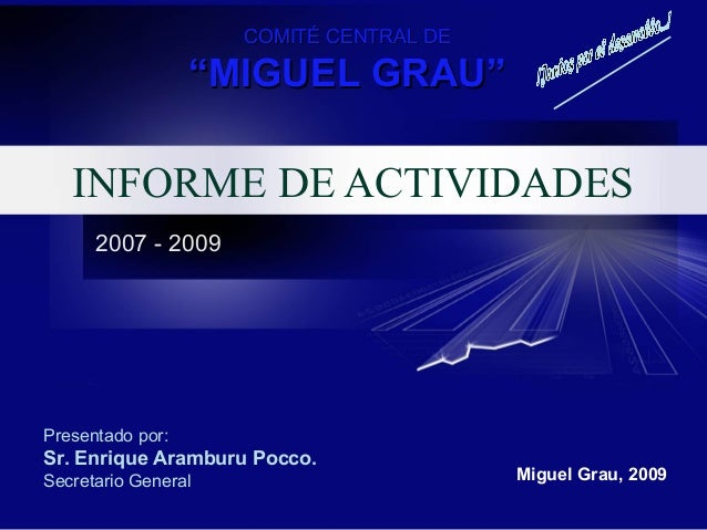 Presentacion actividades CCMG 2007 - 2009
