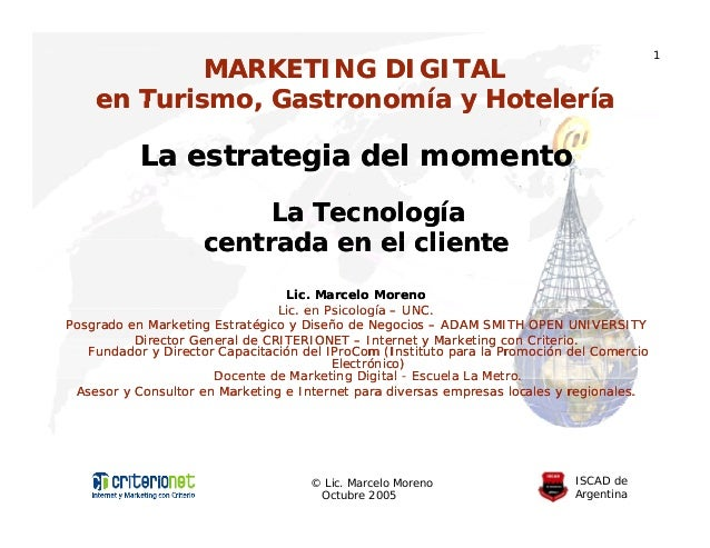 1            MARKETING DIGITAL    en Turismo, Gastronomía y Hotelería       Turismo                     g           La est...