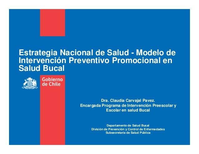 Presentacion modelo intervención dra carvajal