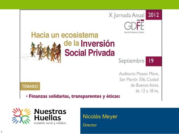 Presentación N. Meyer GDFE 2012