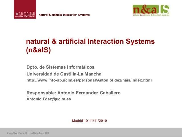 Centro de Investigaciones y Desarrollo de la Imagennatural & artificial Interaction Systemsnatural & artificial Interactio...