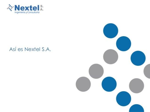 Presentacion de Nextel S.A.