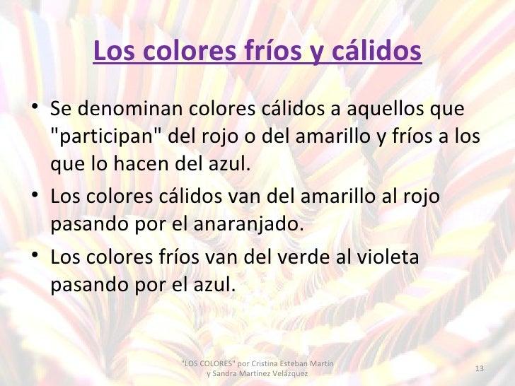 Los colores primarios secundarios fr os y c lidos - Cuales son los colores calidos y frios ...