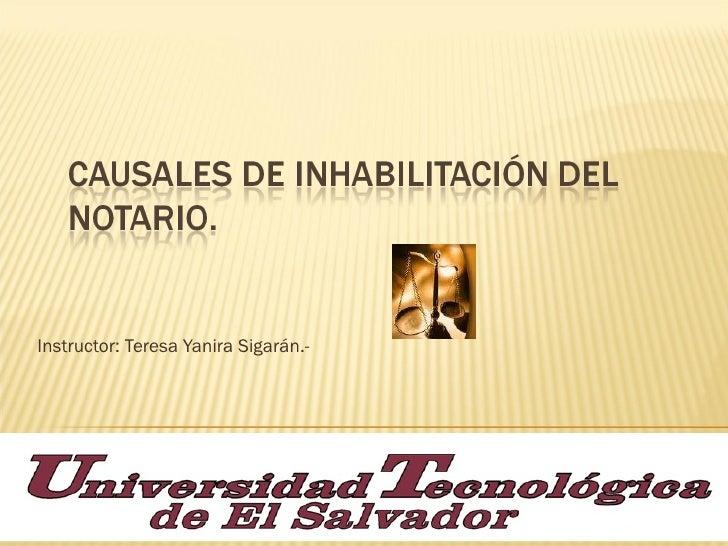 Instructor: Teresa Yanira Sigarán.-