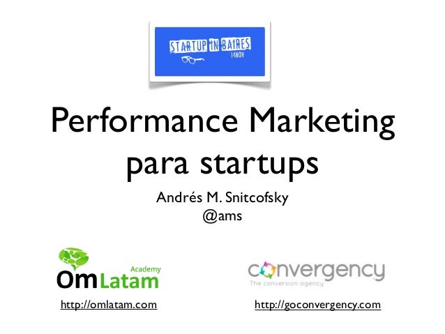 Performance Marketing para Startups