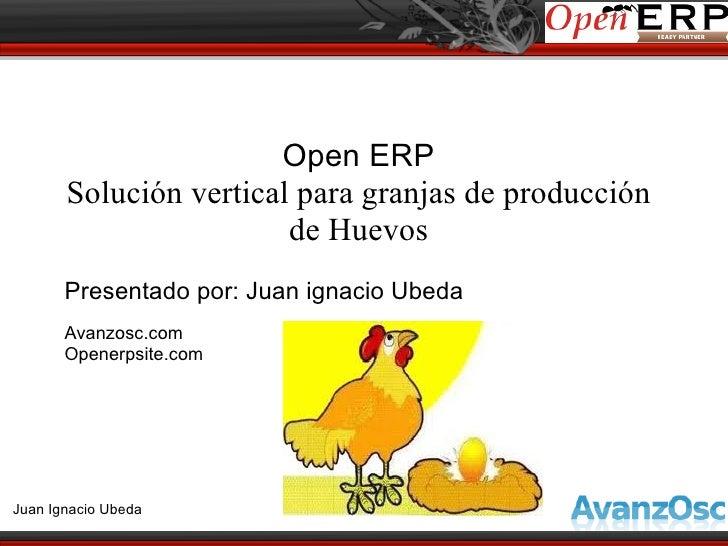 Open ERP       Solución vertical para granjas de producción                        de Huevos       Presentado por: Juan ig...