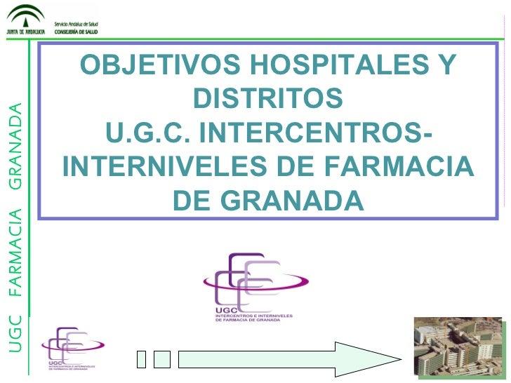 OBJETIVOS HOSPITALES Y DISTRITOS U.G.C. INTERCENTROS-INTERNIVELES DE FARMACIA DE GRANADA