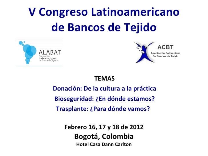 Presentación Congreso ALABAT