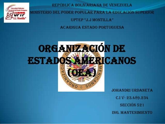 "República Bolivariana de Venezuela Ministerio del poder popular para la educación superior UpTEp ""J.J MonTilla"" Acarigua E..."