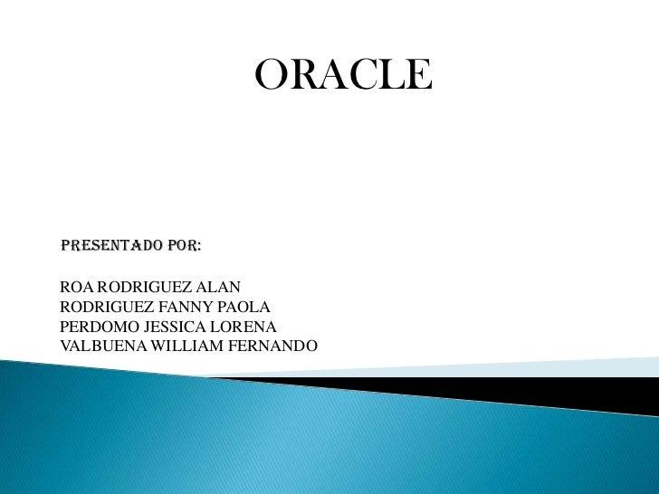 Presentacion oracle power point