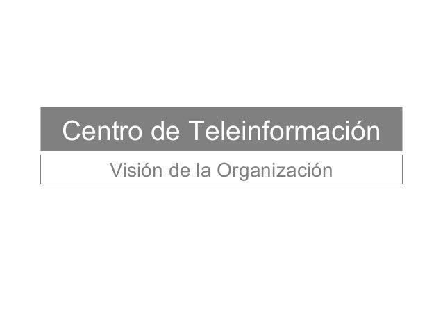 Centro de Teleinformación Visión de la Organización