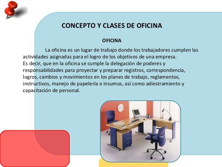 Concepto y clases de oficina for Explique que es una oficina