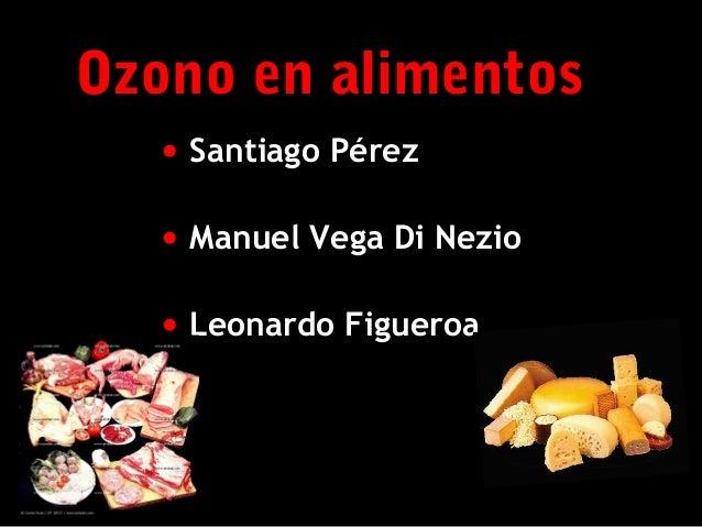 Uso del Ozono en alimentos