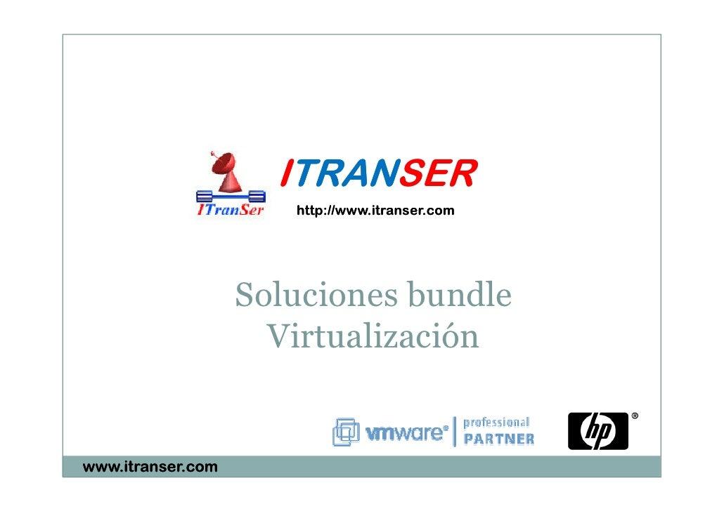 ITRANSER Soluciones Bundle HP VMware