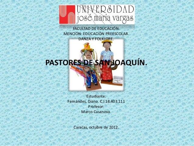 Presentacion pastores de san joaquin