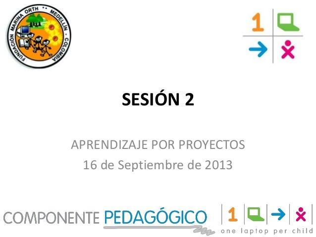 SESIÓN 2 APRENDIZAJE POR PROYECTOS 16 de Septiembre de 2013