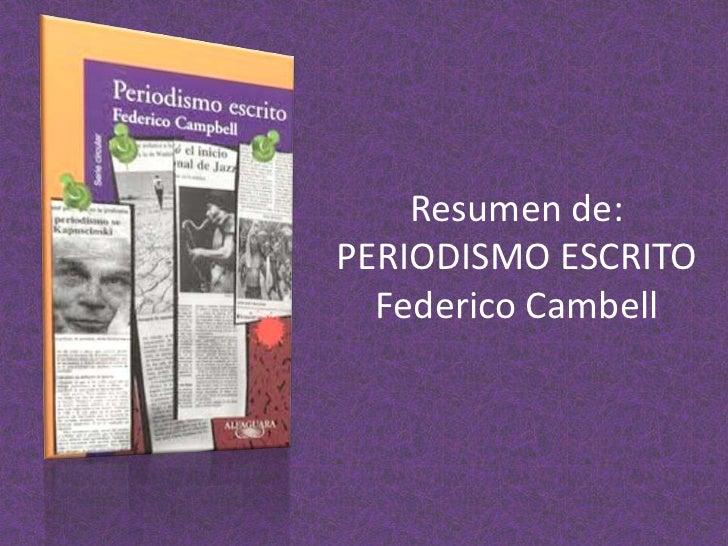 Presentacion periodismo